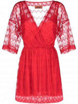 Платье с запахом - красное Missoni