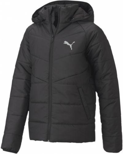 Черная куртка с капюшоном с надписью Puma