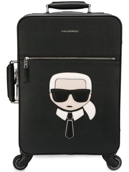 Чемодан с логотипом черный Karl Lagerfeld