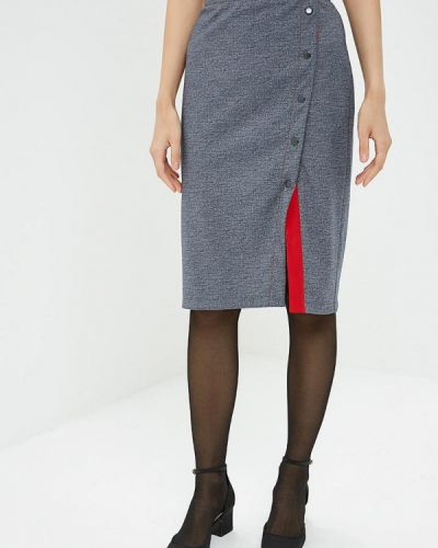 Прямая юбка - серая Tantino