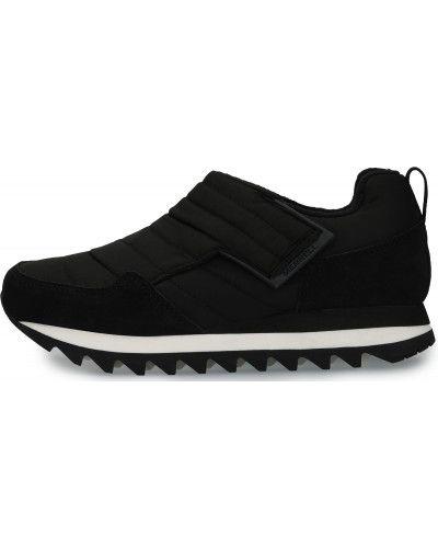 Утепленные черные кожаные полуботинки Merrell