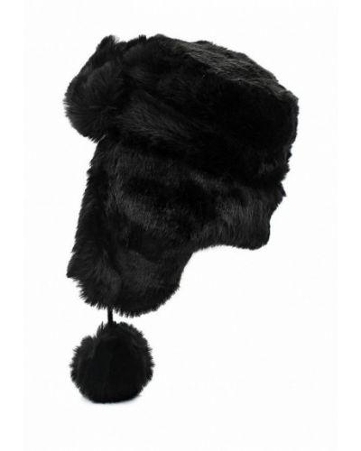 Черная шапка-ушанка Topshop