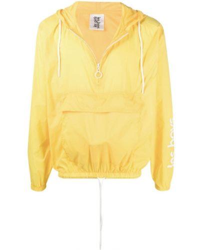Желтая спортивная куртка с капюшоном на молнии Les Girls Les Boys