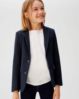 Классический пиджак на пуговицах с подкладкой из вискозы Mango Kids