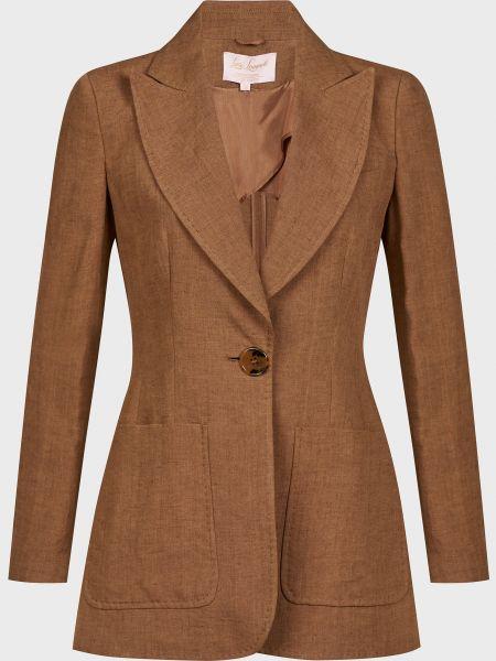 Коричневый пиджак на пуговицах Luisa Spagnoli