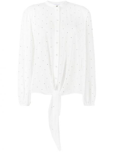 Bluzka srebrna - biała Patrizia Pepe