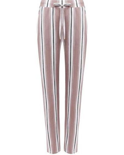 Хлопковые бежевые брюки с карманами Hanro