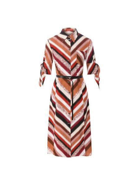 Коричневое шелковое платье с подкладкой Altuzarra