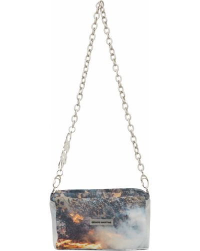 Beżowa torebka srebrna Serapis