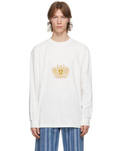 Белая футболка с длинными рукавами с воротником Han Kjøbenhavn
