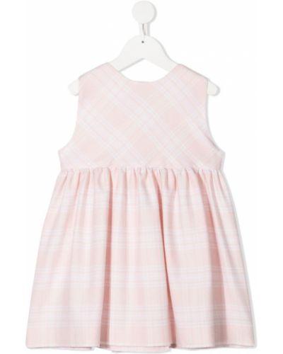 Розовое платье с V-образным вырезом на пуговицах без рукавов Siola