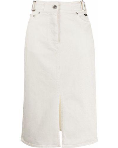 Джинсовая юбка - белая Msgm