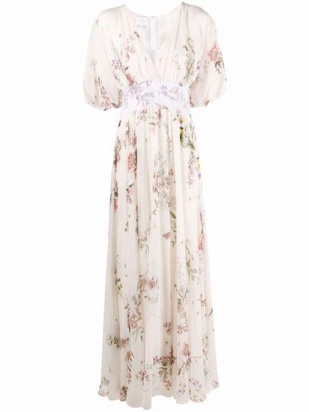 Кружевное платье мини - белое Giambattista Valli