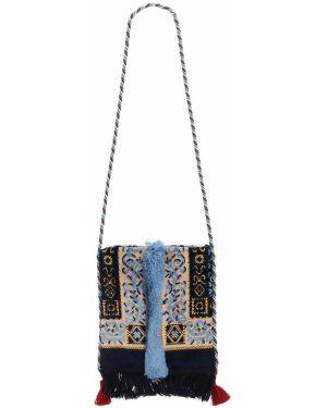 Ażurowa niebieska torebka mini Malaga4
