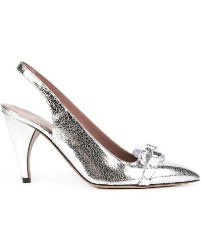 Серебряные туфли с ремешком Rayne