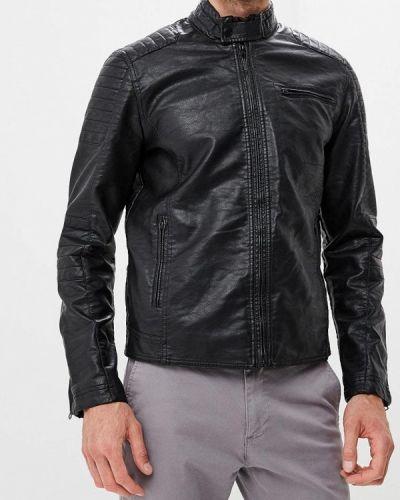 Кожаная куртка - черная Colin's