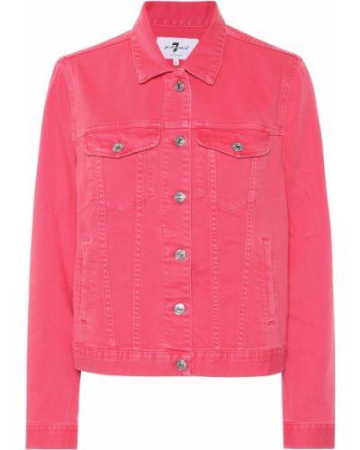 Розовая джинсовая куртка 7 For All Mankind