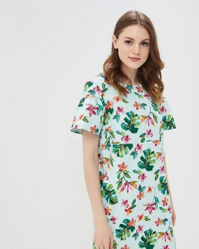 Бирюзовое платье весеннее Sela