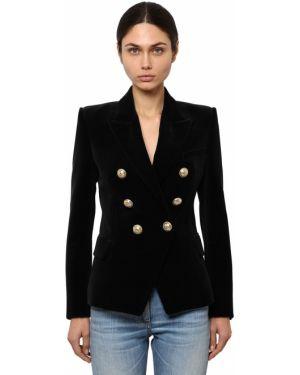 Пиджак бархатный на пуговицах Balmain