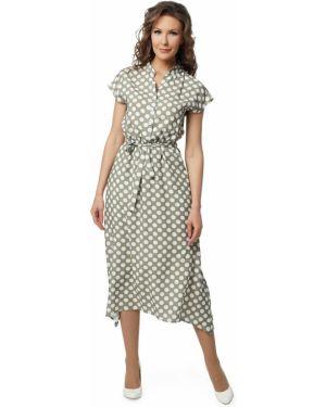 Расклешенное летнее платье на пуговицах с капюшоном с воротником Dizzyway