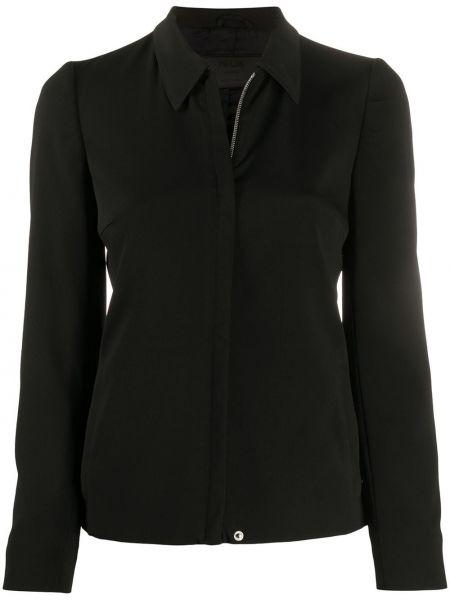 Черный пиджак с воротником на пуговицах Prada Pre-owned