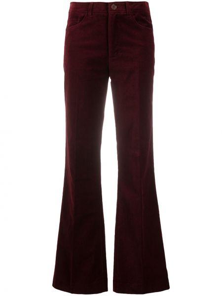 Красные расклешенные брюки на пуговицах с высокой посадкой Zadig&voltaire