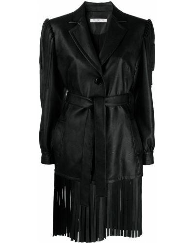 Однобортное черное длинное пальто на пуговицах Philosophy Di Lorenzo Serafini