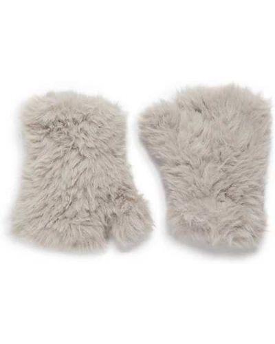 Czarne rękawiczki bez palców z akrylu Saks Fifth Avenue