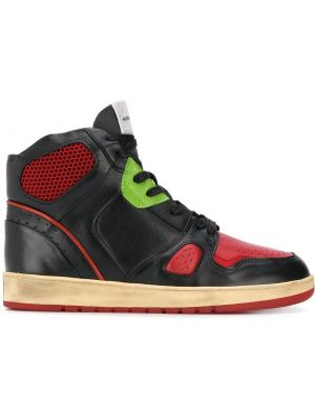 Czarny wysoki sneakersy skórzany Ales Grey