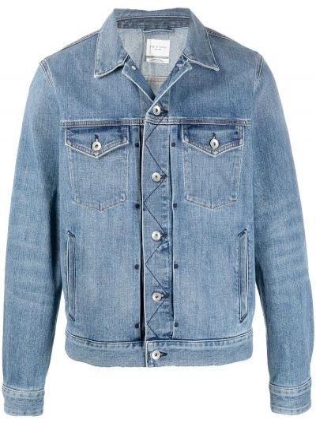 Niebieskie jeansy bawełniane z długimi rękawami Rag & Bone