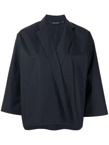 Хлопковый черный пиджак с лацканами Sofie D'hoore