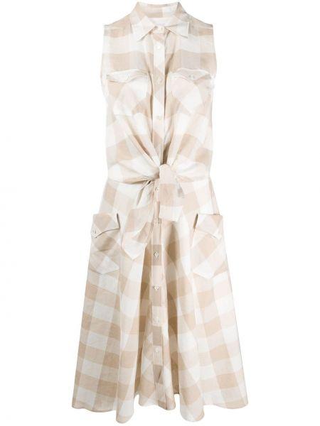 Платье миди на пуговицах классическое Sara Roka