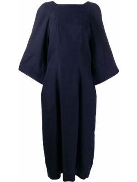 Платье миди с открытой спиной с V-образным вырезом Henrik Vibskov