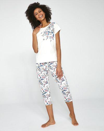 Пижамная хлопковая пижама с брюками с длинными рукавами Cornette