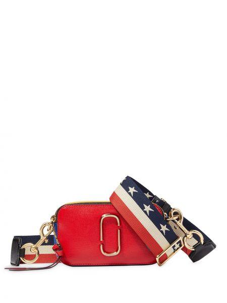 Кожаная красная сумка через плечо на молнии Marc Jacobs
