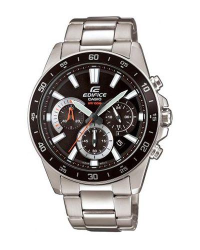 Czarny zegarek srebrny Casio