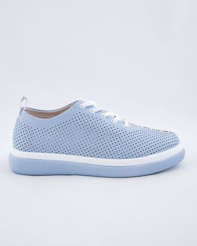 Синие кожаные ботинки Sidestep