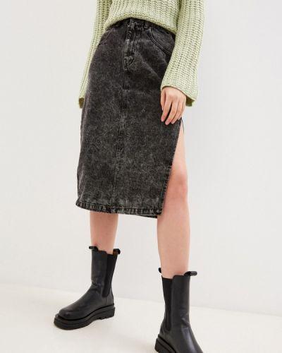 Серая джинсовая юбка Befree