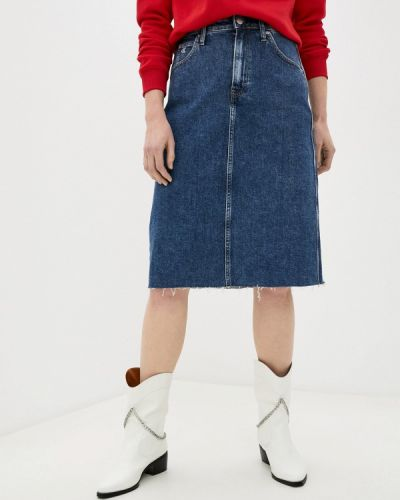 Синяя джинсовая юбка Calvin Klein Jeans
