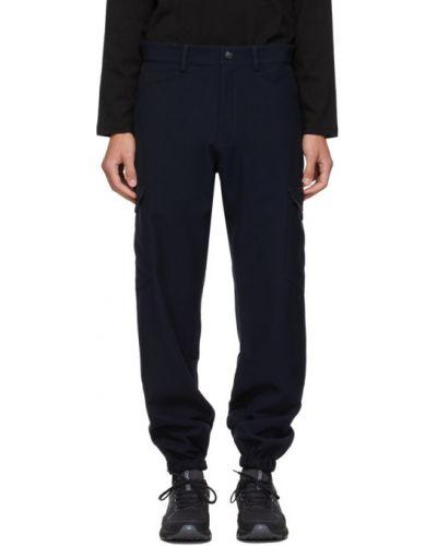 Серебряные брюки карго с поясом с манжетами Affix