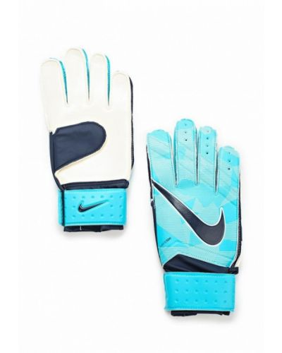 Голубые перчатки Nike