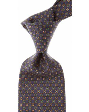 Zielony krawat z jedwabiu Marinella