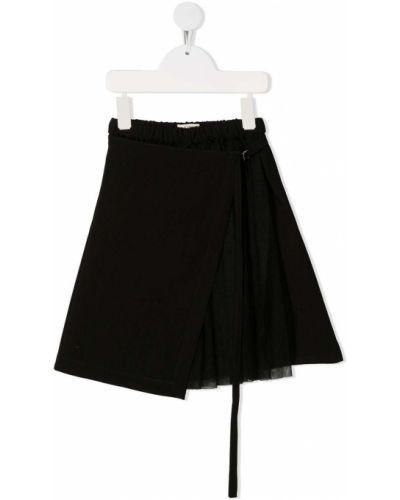 Черное платье миди с запахом с поясом Anja Schwerbrock Kids
