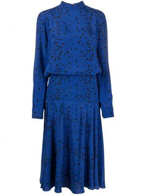 Платье миди с принтом - синее Kenzo