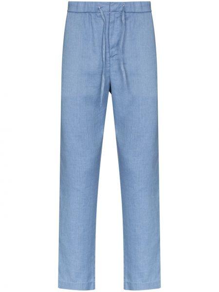 Niebieskie spodnie bawełniane Frescobol Carioca