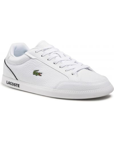Biała czapka Lacoste