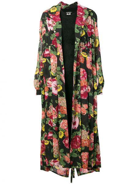 Шерстяное платье макси - черное Junya Watanabe