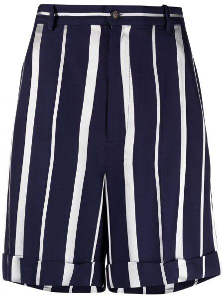 Niebieskie szorty z printem z wiskozy Polo Ralph Lauren
