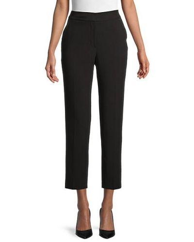 Прямые черные укороченные брюки с поясом T-tahari