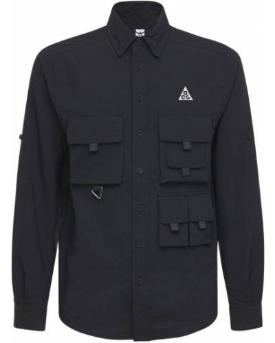 Czarna koszula do pracy z siateczką Nike Acg